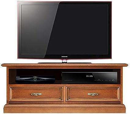 arteferretto meuble tv support en bois pour barre de son avec tiroirs et niche largeur 94 cm meuble ecran plat petite taille meuble tele bas