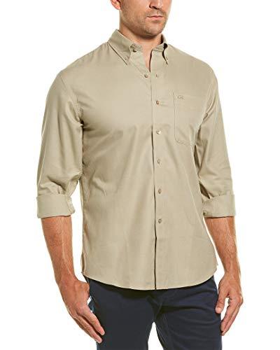 Cutter & Buck Men's Long-Sleeve Nailshead Sport Shirt Rope M
