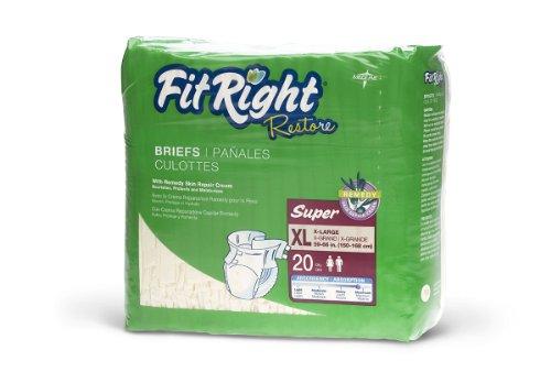 MEDLINE FITRESTOREXLG FitRight Restore Briefs (Pack of 80)
