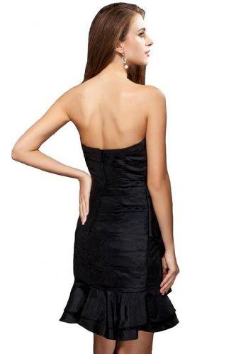 Cocktail da motivo taffetà feste una vestito linea Sunvary corto Black Sweetheart per WY4qnOfw