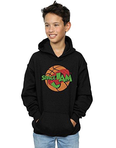 space jam Boys Simple Logo Hoodie 7-8 Years Black