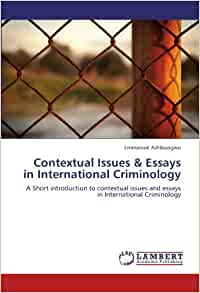 essays in criminology Order your criminology essay at pro-paperscom ☝ our skillful writers will gladly help you write a criminology research paper, so you can focus on other things.