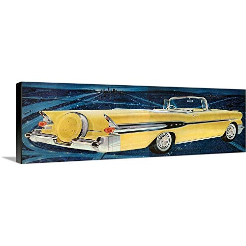 (GREATBIGCANVAS Gallery-Wrapped Canvas Entitled 1950's USA Pontiac Magazine Advert (Detail) by 60
