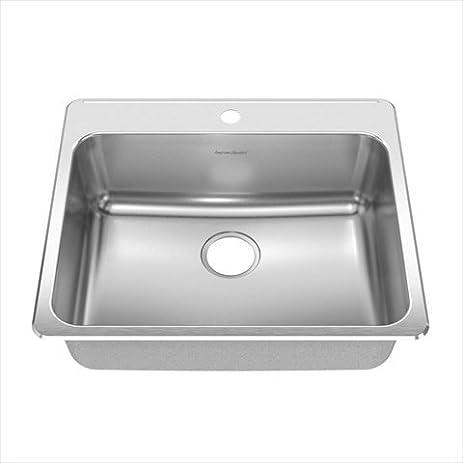 Kitchen Sink 25 X 22 Amazon ada 25 x 22 single bowl back ledge kitchen sink faucet ada 25quot x 22quot single bowl back ledge kitchen sink faucet workwithnaturefo