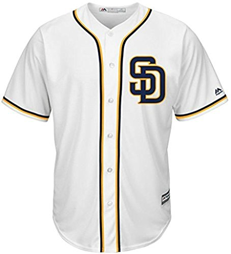 VF San Diego Padres MLB Mens Majestic Alternate Cool Base Replica White Jersey Big & Tall Sizes (5XL)