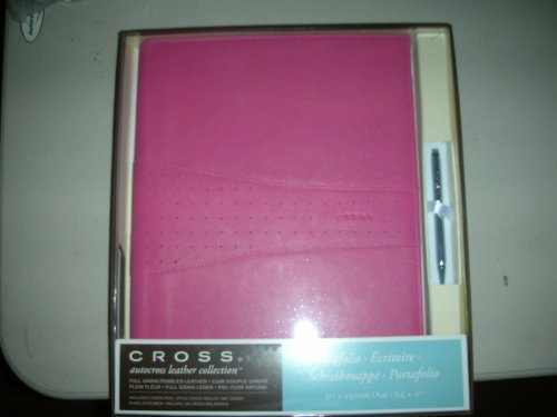 Cross Autocross Collection Pink Pebbled Leather Padfolio with Cross Pen (Pen Pocket Autocross Cross)