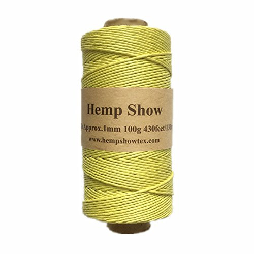(100% Hemp Fiber Twine-1mm-100g-430feet (Yellow))