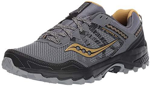Saucony Men's Grid Excursion TR12 Trail Running Shoe Silver/Gold 10.5 M US