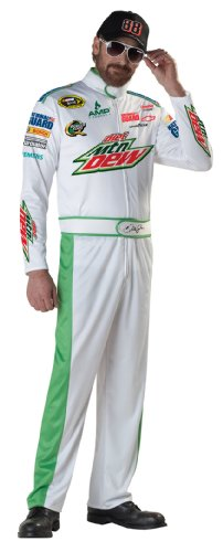 Dale Earnhardt Halloween Costume (California Costumes Men's Nascar Dale Earnhardt Jr Costume, White,)