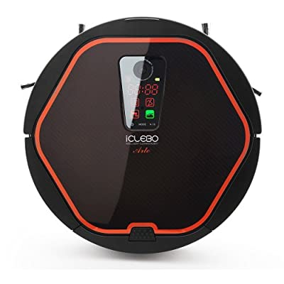 iClebo Arte YCR-M05 Smart Home/Office Vacuum Cleaner & Floor Mopping Robot - Cleans Methodicaly with Camera Recognition Vision Mapping Technology