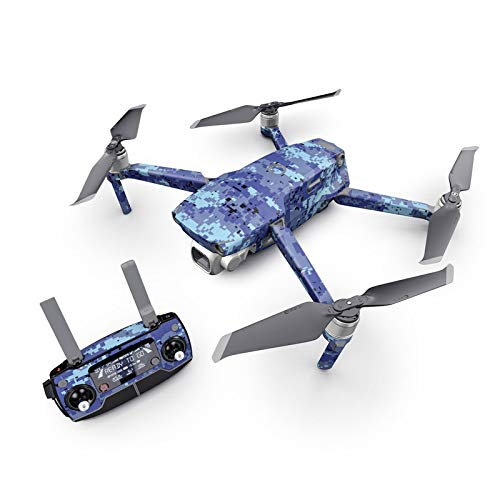 Digital Sky Camo Decal Kit for DJI Mavic 2 Drone - Includes 1 x Drone/Battery Skin + Controller Skin