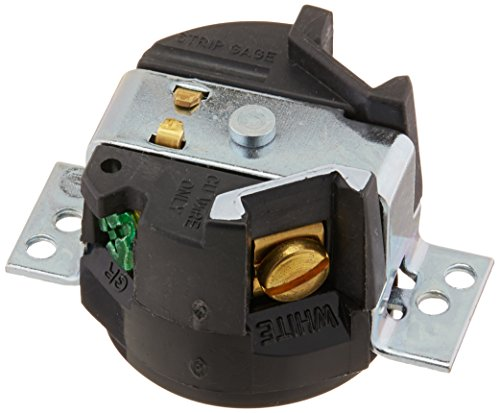(Hubbell HBL4713 Locking Panel Receptacle, 15 amp, 125V, L5-15R, Black)