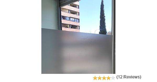 Lámina autoadhesiva de proteccion solar, traslúcido con efecto ácido arenado, para cristal, mampara, ventana, etc. Lamina de vinilo a granel. Medida: 80x300cm: Amazon.es: Amazon.es