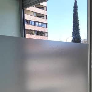 Lámina autoadhesiva de proteccion solar, traslúcido con efecto ácido arenado, para cristal, mampara, ventana, etc. Lamina de vinilo a granel. Medida: 60x150cm: Amazon.es: Hogar