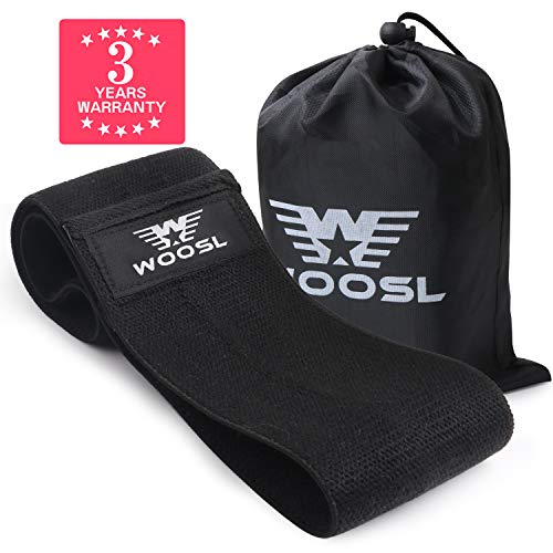 WOOSL [Upgrade 2019] Resistance Exercise Bands for Legs and Butt,Workout Bands Hip Bands Wide Booty Bands Sports Fitness Bands Stretch Resistance Loops Band Anti Slip Elastic(Black 1 PCS) (Best Workouts For 2019)