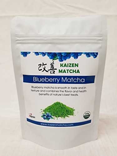 Naturally Flavored Blueberry Matcha 100g / 3.52oz - Makes 10-15 Servings & Wholesale Pricing for a Limited Time
