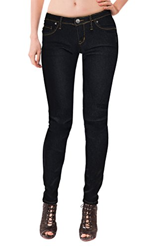 Super Low Rise Jeans For Women - Womens Super Comfy Stretch Denim 5 Pocket Jean P22881SK Black 13