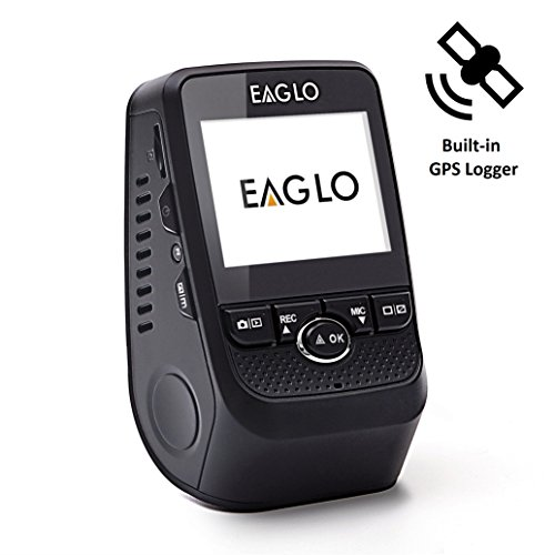 Eaglo E8 Car Dash Cam FHD 1080p 170° Wide Angle Dashboard Camera Recorder with Built-in GPS Logger, G-Sensor, WDR, Loop Recording