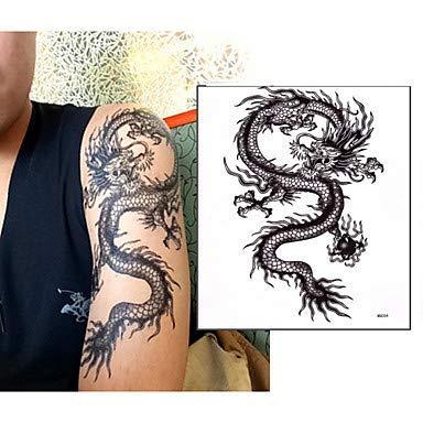 HYLH 1 pcs Tatuajes temporales Impermeable No tóxico Papel Tatuaje ...