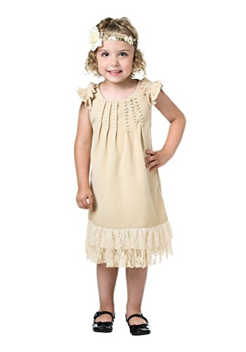 FunCostumes Toddler Pearl and Lace Flapper 4T -
