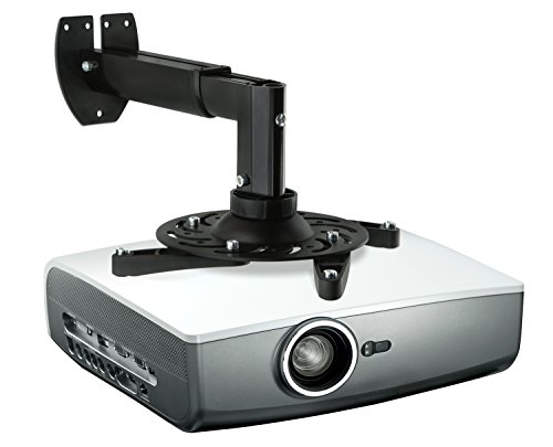 Mount-It! Projector Mount Wall Mount Universal Adjustable Design with Extendable Length for LCD/DLP Epson