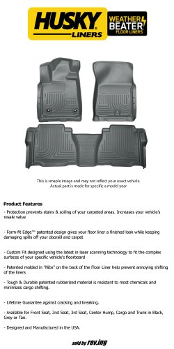 2015 Chevrolet Silverado 2500 HD Crew Cab Pickup - Husky Liners - WeatherBeater - Floor Liners - Front and Rear