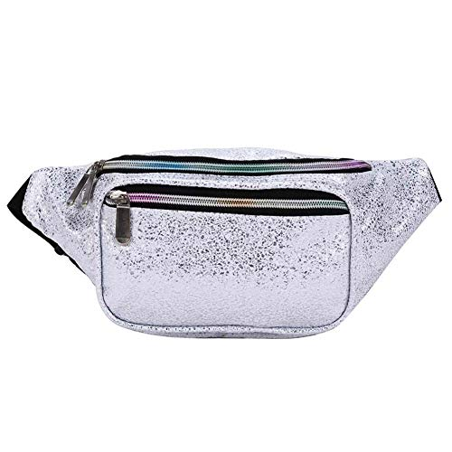 Futosix Fashion Holographic Fanny Pack for Women Men-Waterproof Travel Waist Packs Bum Purse Bags for Rave, Festival,Hiking ()