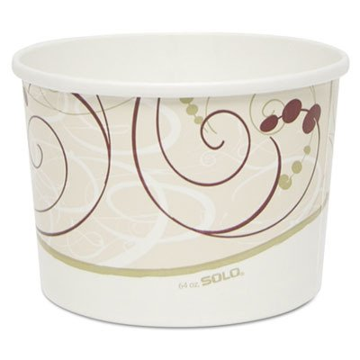 Solo P4643-J8000 64 oz Symphony Flexstyle DSP Paper Food Container (Case of 300) ()