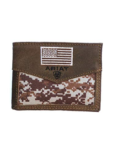 Ariat Unisex-Adult's Patriot Digital Camo Bifold Wallet, Bro