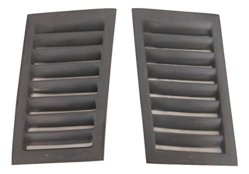 Fiberglass Specialties Hood Vent 7 Louver For Any Flat Hood-PAIR ()