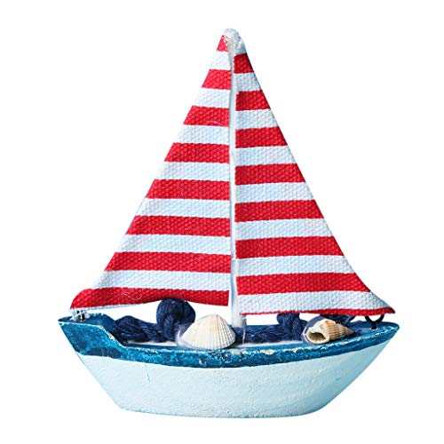 HHei_K Marine Theme Wooden Sails Model Ornaments Home Decor Resin Crafts Photo Prop, Independence Day Hot Sale !