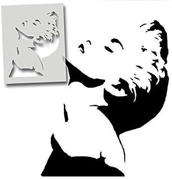 meuble et plus semi transparent pochoir XXL// 77X94CM MADONNA pochoir r/ép/étables mural de maison d/écor /& ART POCHOIR PEINTURE SUR MESURE d/écoration sur murs,Fabrics