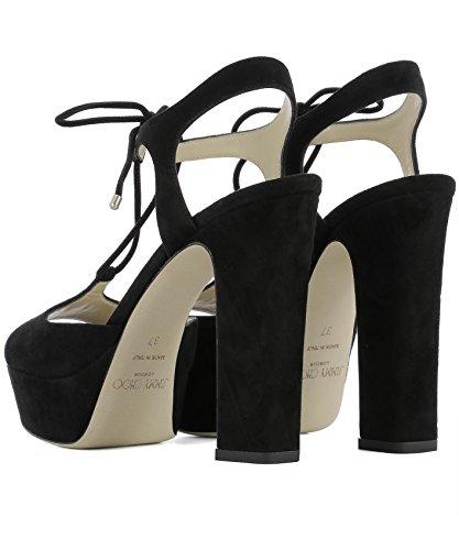 Jimmy Choo Sandales Femme Belize120sueblack Noir Daim