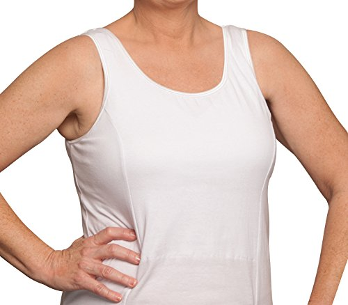 - Womens Nearly Me After Surgery Camisole Masectomy Bras, Model 520, White - X-Large