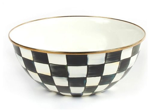 MacKenzie-Childs Enamelware Courtly Check Everday Bowl Large
