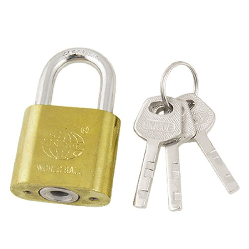 uxcell Security Door Drawer Key Locking Gold Tone Metal Padlock Lock 40mm by uxcell