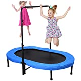 Fashionsport OUTFITTERS Mini Trampoline, Parent-Child Trampoline for Two Kids-Blue