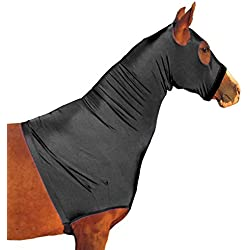 Derby Originals Lycra Horse Hoods with Zipper, Black, Medium