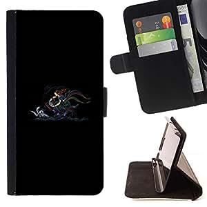LG Magna / G4C / H525N H522Y H520N H502F H500F (G4 MINI,NOT FOR LG G4)Case , Minimalista mar del arco Dibujo- la tarjeta de Crédito Slots PU Funda de cuero Monedero caso cubierta de piel