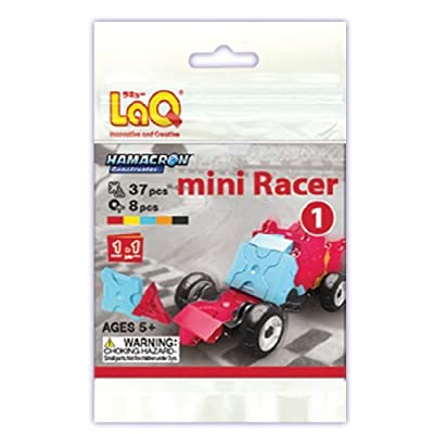 LaQ Hamacron Mini Racer 1 Car Model Building Kit, Red: Toys & Games