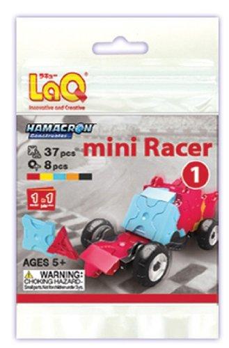 LaQ Hamacron Mini Racer 1 Car Model Building Kit, Red