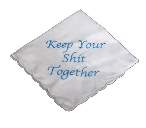 Keep Your Shit Together Wedding Handkerchief in Blue- Something Blue Bridal Keepsake (Wedding Gifts For Your Best Friend)