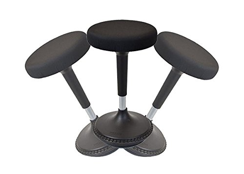 Flat Seat Counter Stool - Wobble Stool Standing Desk Chair for Active Sitting Modern sit Stand up Desk stools high Perching Perch Office Chairs Tall Swivel Leaning Ergonomic Computer Balance
