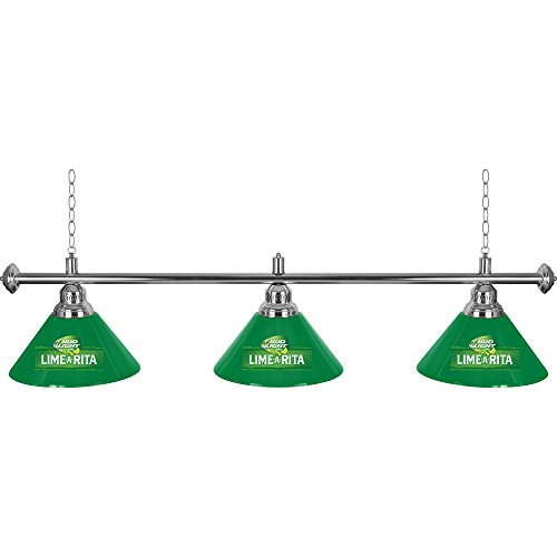 Trademark Gameroom Bud Light Lime-A-Rita 3 Shade Billiard Lamp