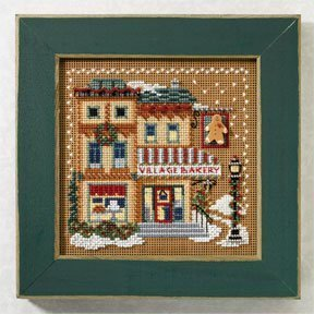 Village Bakery Beaded Counted Cross Stitch Kit Mill Hill MH1