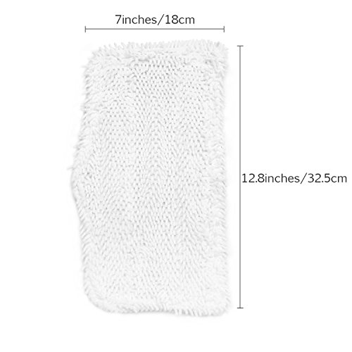 Fushing 5Pcs Household Microfiber Replacement Cleaning Steam Mop Pads for Shark Steam Mop S3101 S3202 S3250 S3251 (White) by Fushing (Image #1)