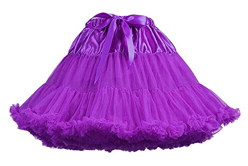 Femme tulle Jupon dguises carnaval jupe Cosplay Tutu Violet Facent en soires ZxwWHw