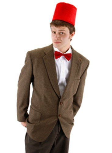 Doctor Who 11th Doctor New Costume - 11th Doctor Who Fez And Bow Tie Kit Costume Matt Smith Adult Mens Dr. Hat by MyPartyShirt