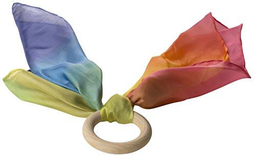 Sarahs Silks Silk Rainbow Baby Teether