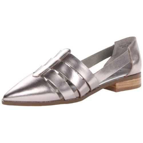 Chinese Laundry Women's Outcast Oxford, Silver/Glass Leather, 8.5 M US